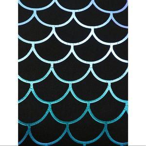torrid Swim - BLACK & PURPLE MERMAID ONE-PIECE SWIMSUIT
